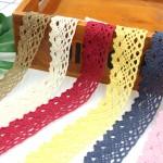 Кружево вязаное широкое (цветное)