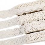 Кружево вязаное широкое (белое, молочное)
