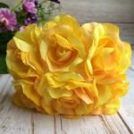 Роза с тканью 3,5 см