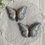 Аппликация тканевая бабочка 3D