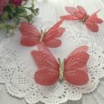 Шифоновые бабочки с глиттером