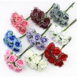 Роза тканевая 2 см (с кружевом)