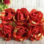 Роза тканевая с блеском (TL0101)
