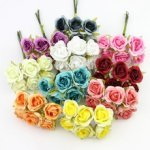 Роза тканевая 2 см