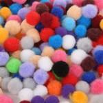 Помпоны цветные микс